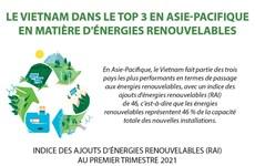 Le Vietnam dans le top 3 en Asie-Pacifique en matière d'énergies renouvelables