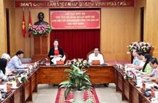La présidente de l'AN travaille avec le Comité de pilotage des élections de Kien Giang