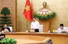 Le PM Pham Minh Chinh préside une réunion sur le travail du gouvernement
