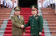 Le ministre des Forces armées révolutionnaires de Cuba en visite au Vietnam