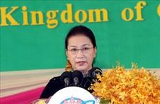 La présidente de l'AN Nguyen Thi Kim Ngan à l'ouverture de la réunion annuelle du FPAP-27