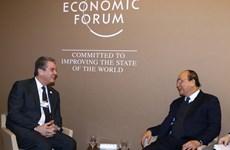 Des activités du PM Nguyen Xuan Phuc en marge du Forum économique mondial de Davos