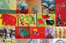 Une exposition sur le thème du cochon attire les amateurs d'art à Hanoï