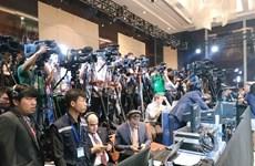 Le président américain Donald Trump organise une conférence de presse à l'hôtel JW Marriott