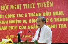 Inspection gouvernementale: mettre en œuvre des solutions pour prévenir la corruption