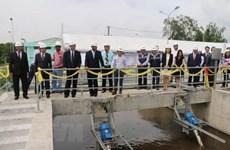 Inauguration d'une usine de traitement des eaux usées dans la ville de Long Xuyen