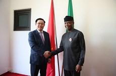 Entretien entre le vice-Premier ministre Vuong Dinh Hue et le vice-président nigérian