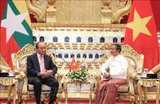 Entrevue entre le Premier ministre vietnamien et le président birman