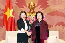 La présidente de l'Assemblée nationale reçoit l'ambassadrice australienne
