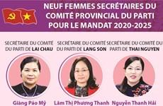 Neuf femmes secrétaires du Comité provincial du Parti pour le mandat 2020-2025