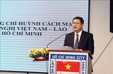 Rencontre à Ho Chi Minh-Ville à l'occasion de la Fête nationale du Laos