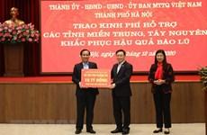 Hanoi vient en aide aux sinistrés du Centre et des Hauts Plateaux du Centre