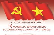 18 membres du Bureau politique du Comité central du Parti du 13e mandat