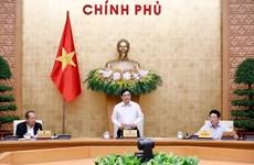 Le Premier ministre Pham Minh Chinh préside une réunion sur le travail du gouvernement
