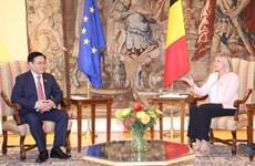 Entretien entre président de l'AN et présidente de la Chambre des Représentants de Belgique