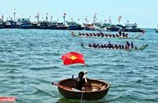 """La course de bateaux """"Tu Linh"""" à Ly Son"""