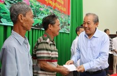 Des dirigeants présentent leurs vœux du Tet à Dong Thap et à Son La