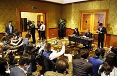 Conférence de presse du ministre des Affaires étrangères de la RPDC à Hanoi