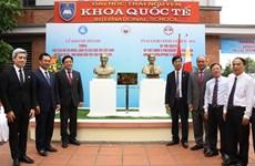 Inauguration des bustes du Président Ho Chi Minh et du héros du peuple philippin José Rizal