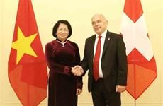 Entrevue entre la vice-présidente vietnamienne et le président de la Confédération suisse
