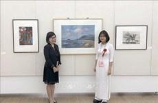 Un tableau d'une lycéenne vietnamienne présenté au Japon