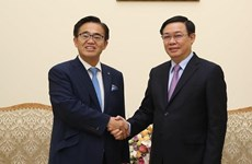 Le vice-PM Vuong Dinh Hue reçoit le gouverneur de la préfecture japonaise d'Aichi