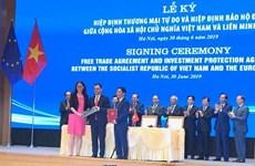 La signature de l'EVFTA-EVIPA dynamisera les liens économiques Vietnam-UE