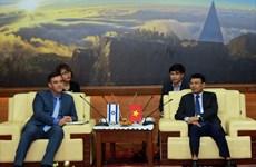L'ambassadeur israélien en visite de travail à Lao Cai