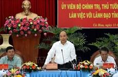 Le Premier ministre Nguyen Xuan Phuc en tournée de travail à Ca Mau