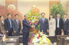 Une délégation laotienne formule des vœux du Tet à Thai Nguyen