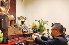 Cérémonie en mémoire du président Ho Chi Minh de l'organisation du PCV au Cambodge