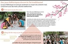 Des jeux folkloriques durant le Tet traditionnel