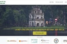 Un site web sur des engagements des citoyens hanoiens pour la capitale