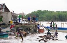 Kien Giang : des centaines de maisons endomagées à causes de pluies torrentielles