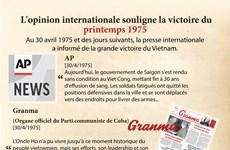 L'opinion internationale souligne la victoire du printemps 1975