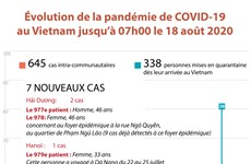 Évolution de la pandémie de COVID-19 au Vietnam jusqu'à 07h00 le 18 août 2020