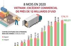 Vietnam : un excédent commercial de près de 12 milliards d'USD en huit mois