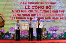 Premier district répondant aux normes de la Nouvelle Ruralité à Tien Giang