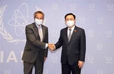 Le président de l'Assemblée nationale rencontre le directeur général de l'AIEA