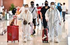 Efforts pour la prévention du COVID-19 à l'aéroport de Noi Bai