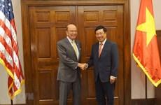Le vice-PM et ministre des AE poursuit ses activités aux Etats-Unis