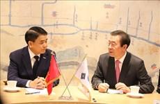 Une délégation de Hanoï en visite de travail en R. de Corée
