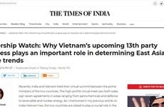 Un journal indien souligne l'importance du 13e Congrès du Parti du Vietnam