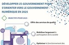 Développer l'e-gouvernement pour s'orienter vers le gouvernement numérique en 2025