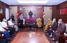 HCM-Ville:  le Comité des affaires religieuses   travaille avec des dignitaires religieux