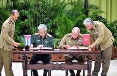 Dialogue Vietnam - Cuba sur la politique de défense