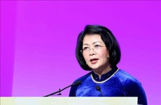 La vice-présidente Dang Thi Ngoc Thinh au Sommet mondial des femmes 2019 à Bale