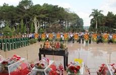 Rapatriement des restes de soldats volontaires vietnamiens tombés au Cambodge