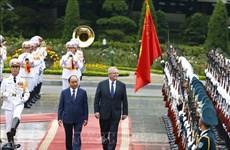 Le PM vietnamien accueille et s'entretient avec son homologue australien
