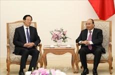 Le PM reçoit le ministre chinois de l'Agriculture et des Affaires rurales